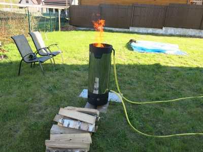 Дровяной водонагреватель для бассейна Пеллетрон D-40_0